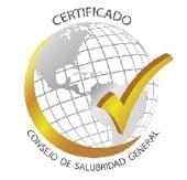 Certificado por el Consejo de Salubridad General